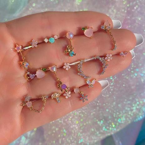 Boucles d'oreilles d'été en gros zircon bijoux en or 18 carats préservant la couleur Nihaojewelry NHUW379094's discount tags
