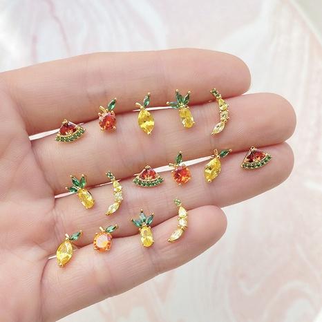 whoesale tropical fruit earrings women's diamond earrings nihaojewelry NHUW379099's discount tags
