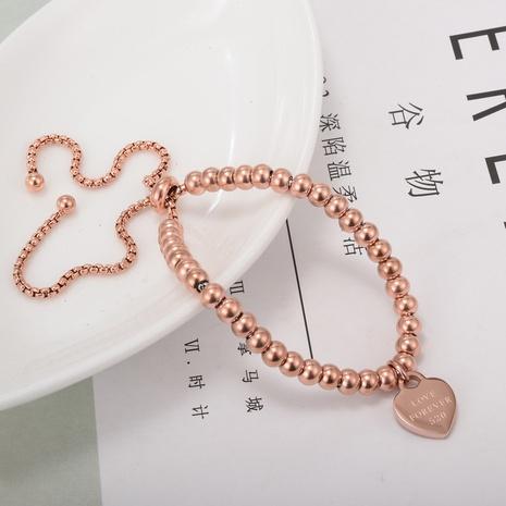 Pulsera de acero de titanio con cuentas redondas simples de Nihaojewelry, joyería al por mayor NHAB379156's discount tags