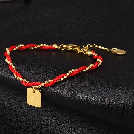 Pulsera al por mayor de la capa del doble de la cuerda roja del grano simple de la joyería Nihaojewelry NHAB379160's discount tags