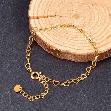 Joyería al por mayor de la pulsera de costura de la forma del corazón hueco lindo de Nihaojewelry NHAB379159's discount tags