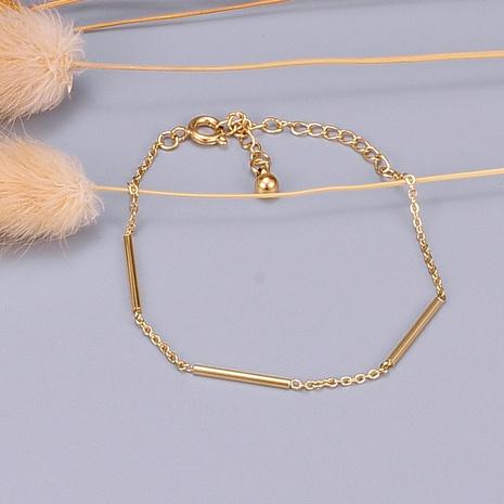 Nihaojewelry pulsera de acero de titanio simple joyería al por mayor NHAB379162's discount tags