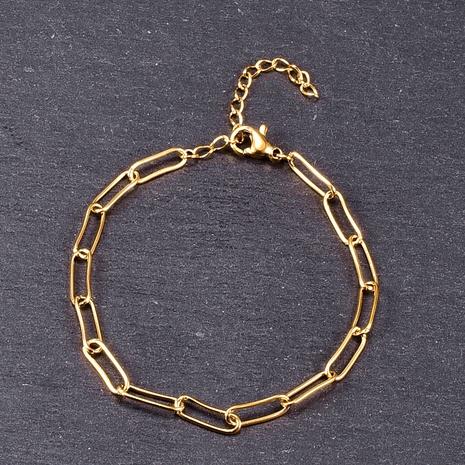 Nihaojewelry, cadena de bloqueo simple, pulsera de acero de titanio, joyería al por mayor NHAB379164's discount tags