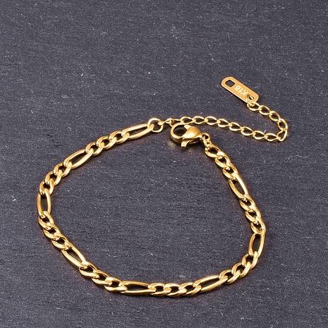 Nihaojewelry pulsera corta de oro de 18 quilates de acero de titanio simple joyería al por mayor NHAB379168's discount tags