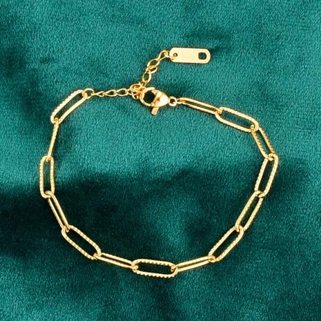 Nihaojewelry, pulsera en relieve corta de oro simple de 18 quilates, joyería al por mayor NHAB379169's discount tags