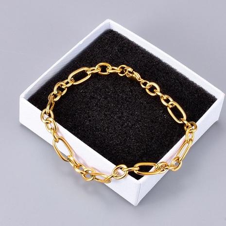 Nihaojewelry simple18K oro pulsera de cadena áspera joyería al por mayor NHAB379170's discount tags
