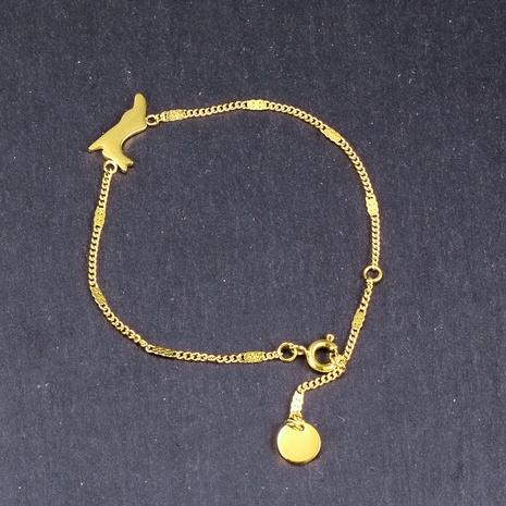 Nihaojewelry lindo conejito esmerilado pulsera de acero de titanio joyería al por mayor NHAB379171's discount tags
