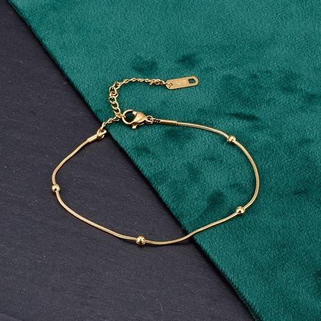 Nihaojewelry cadena de serpiente simple pulsera de bolas de acero múltiple joyería al por mayor NHAB379175's discount tags