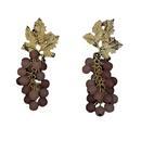 wholesale jewelry retro grape tourmaline stone earring Nihaojewelry NHYQ379283