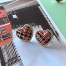 Nihaojewelry jewelry wholesale contrast color resin drip glaze geometric stud earrings  NHOM379300