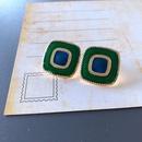 Nihaojewelry jewelry wholesale green series enamel drip glaze geometric stud earrings NHOM379301