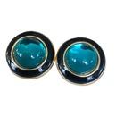 Nihaojewelry jewelry wholesale electroplating colored gemstone diamond ear clip  NHOM379306