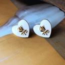 Nihaojewelry jewelry wholesale heart drip glaze enamel shell stud earrings  NHOM379307
