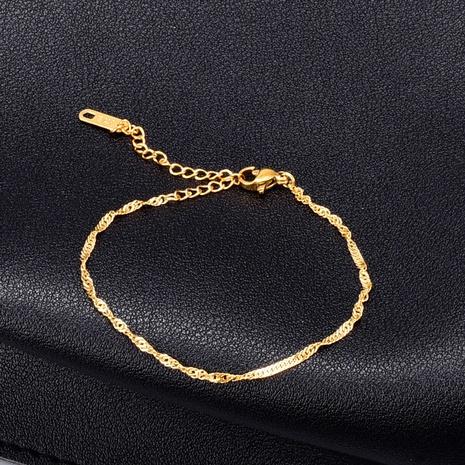 Pulsera de acero de titanio con giro de cadena de estilo coreano Nihaojewelry, joyería al por mayor NHAB379325's discount tags