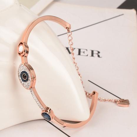 wholesale joyería de titanio acero ojo del diablo pulsera de diamantes llena Nihaojewelry NHAB379341's discount tags