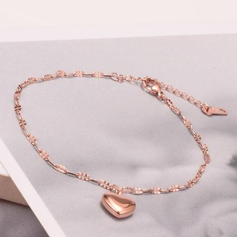 Joyería al por mayor de moda de titanio, acero, oro rosa, forma de corazón, pulsera Nihaojewelry NHAB379348's discount tags