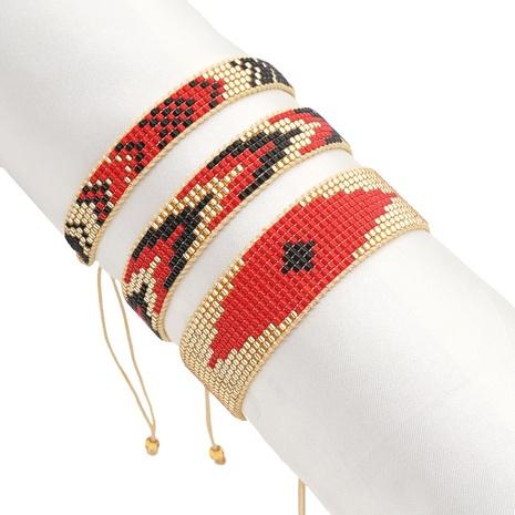 Nihaojewelry Fashion Miyuki Beads Hand-woven Eye Bracelet Set Wholesale Jewelry NHGW379503's discount tags