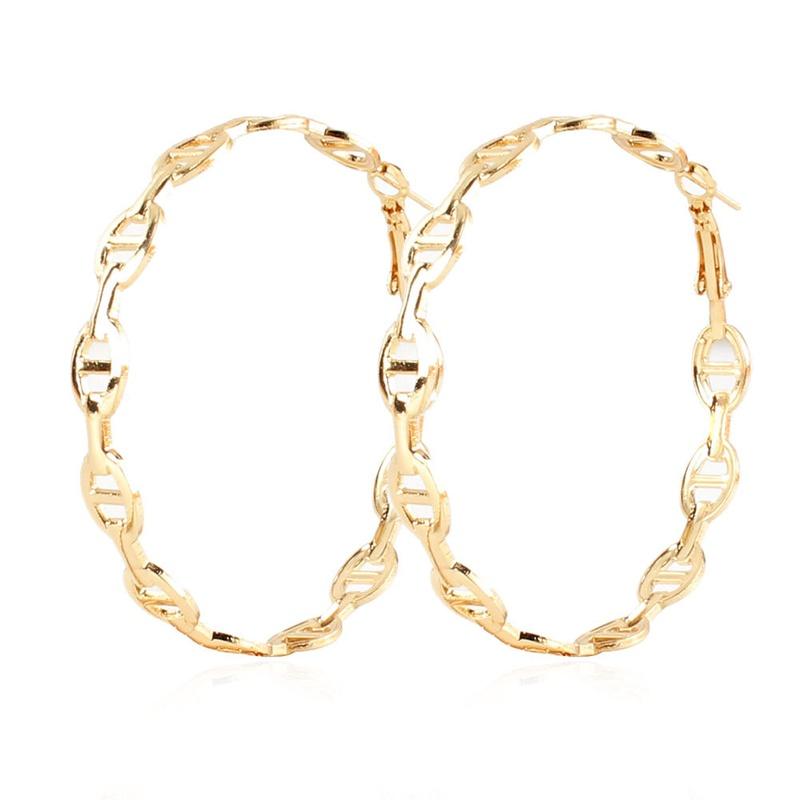 wholesale jewelry retro alloy geometric earrings hoop Nihaojewelry NHCT379529