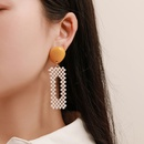 Nihaojewelry jewelry wholesale square color matching beads acrylic diamond earrings  NHAYN379582