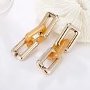 Nihaojewelry jewelry wholesale retro color matching long chain pendant earrings NHAYN379594