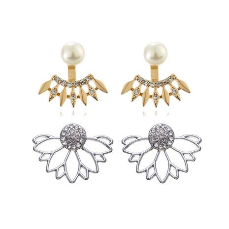 nihaojewelry simple geometric pearl diamonds earrings wholesale jewelry NHOA379603's discount tags