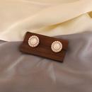 Nihaojewelry jewelry wholesale simple oval opal microinlaid pearl stud earrings  NHPA379650