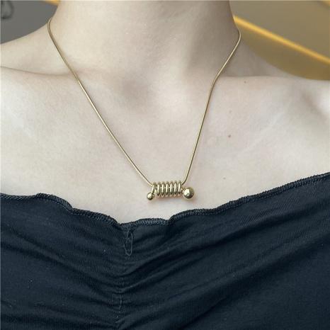 Nihaojewelry joyería al por mayor simple espiral collar colgante de acero inoxidable NHYQ379677's discount tags