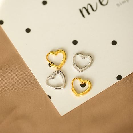 nihaojewelry Pendientes de cobre huecos en forma de corazón de estilo coreano joyería al por mayor NHLON379828's discount tags