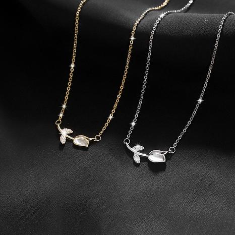 Nihaojewelry Collar con colgante de flor rosa simple Joyería al por mayor NHLON379831's discount tags