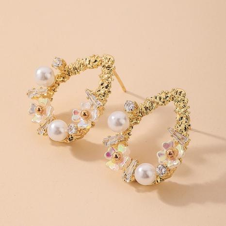 nihaojewelry baroque pearl rhinestone water drop shape earrings wholesale jewelry NHNJ379925's discount tags