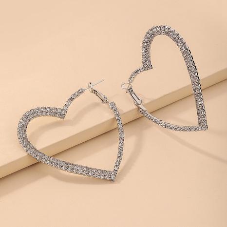 nihaojewelry moda huecos pendientes de diamantes de imitación en forma de corazón joyería al por mayor NHNJ379926's discount tags