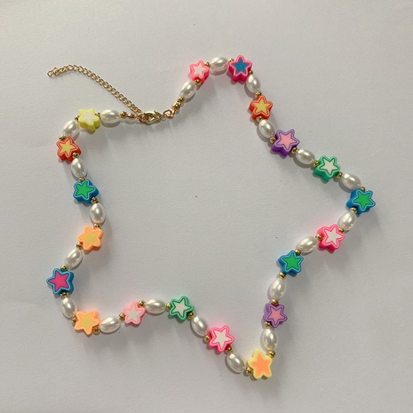 Nihaojewelry cute colorful rice bead pearl fruit necklace Wholesale Jewelry NHLL379939's discount tags