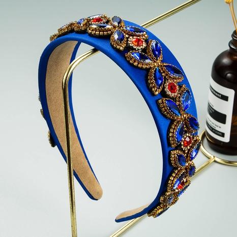 wholesale jewelry baroque fabric inlaid color rhinestone headband Nihaojewelry NHLN379989's discount tags