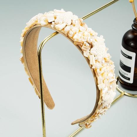 wholesale jewelry baroque starfish shell pearl headband Nihaojewelry NHLN379991's discount tags