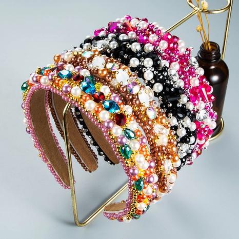 wholesale jewelry beaded crystal headband Nihaojewelry NHLN380015's discount tags