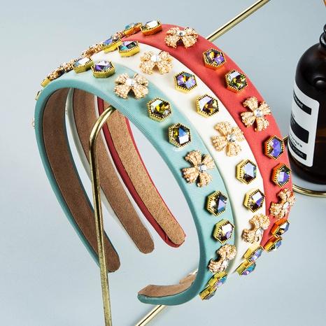 wholesale jewelry baroque fine-edge pearl headband Nihaojewelry NHLN380017's discount tags