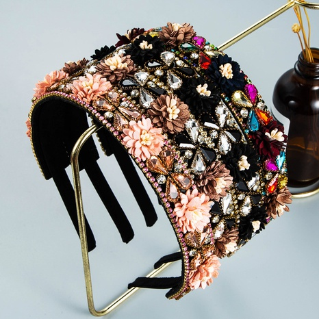 wholesale jewelry baroque flower headband Nihaojewelry NHLN380018's discount tags
