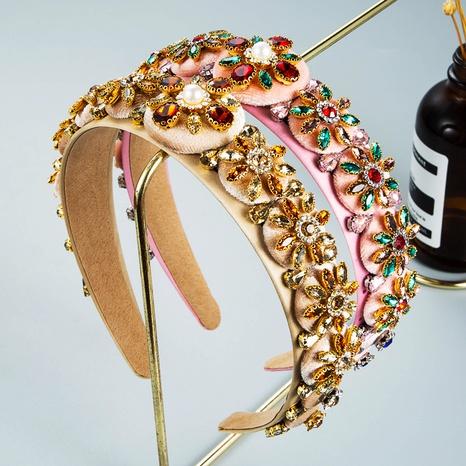 wholesale jewelry candy color three-dimensional rhinestone headband Nihaojewelry NHLN380019's discount tags
