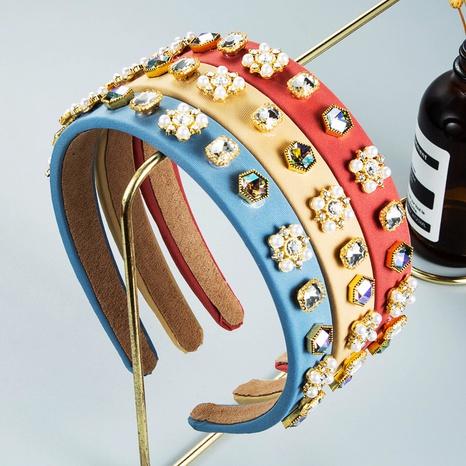 Wholesale Jewelry Pearl Crystal Headband Nihaojewelry NHLN380021's discount tags