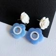 NHOM1754275-Blue-and-White-Flower-Stud-Earrings-4.5CM
