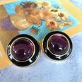 NHOM1754407-Dark-purple-glass-ear-clip-3CM