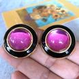 NHOM1754410-Light-Purple-Glass-Silver-Needle-Stud-Earrings-3