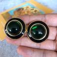 NHOM1754411-Green-glass-ear-clip-3CM