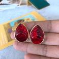 NHOM1754420-Red-Water-Drop-Silver-Needle-Stud-Earrings-2.82-