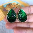 NHOM1754422-Green-Water-Drop-Silver-Needle-Stud-Earrings-2.8