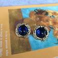 NHOM1754426-Blue-Glass-Silver-Needle-Stud-Earrings-2CM