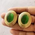 NHOM1754291-Green-cat-eye-ear-clip-2.63.2CM