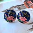 NHOM1754350-Large-Bird-Flower-Silver-Needle-Stud-Earrings-2C