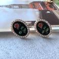 NHOM1754352-Pearl-rose-silver-needle-stud-earrings-2.52CM