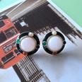 NHOM1754355-Pink-spar-silver-needle-stud-earrings-2CM